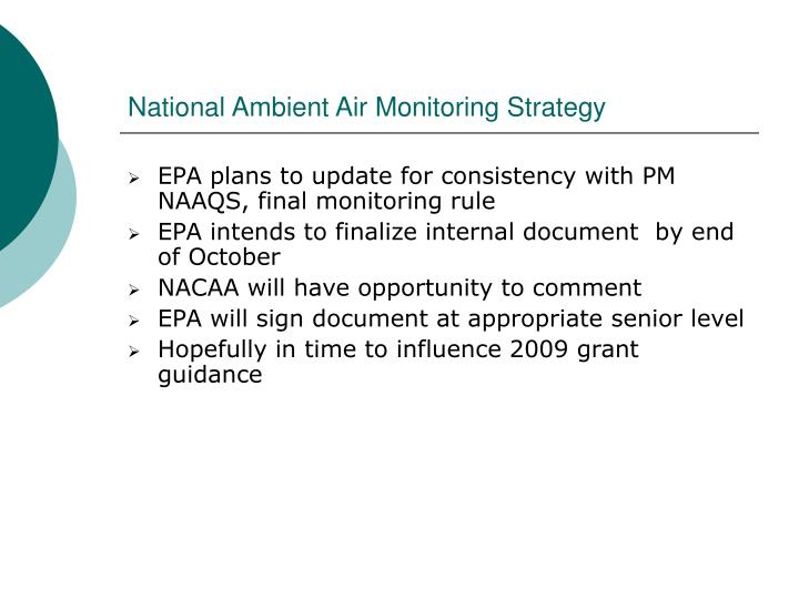 National Ambient Air Monitoring Strategy