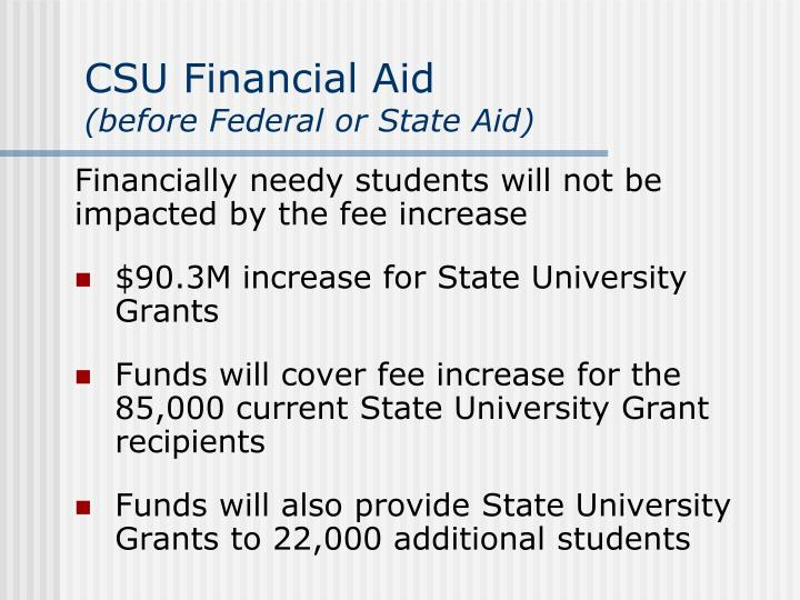 CSU Financial Aid
