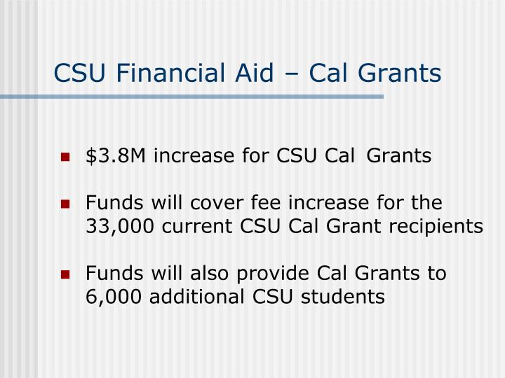 CSU Financial Aid – Cal Grants