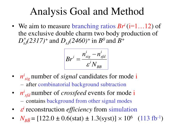Analysis Goal and Method