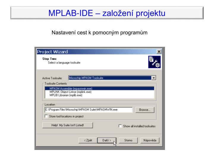 MPLAB-IDE – založení projektu