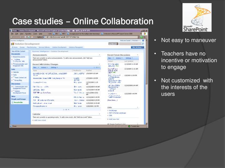 Case studies – Online Collaboration