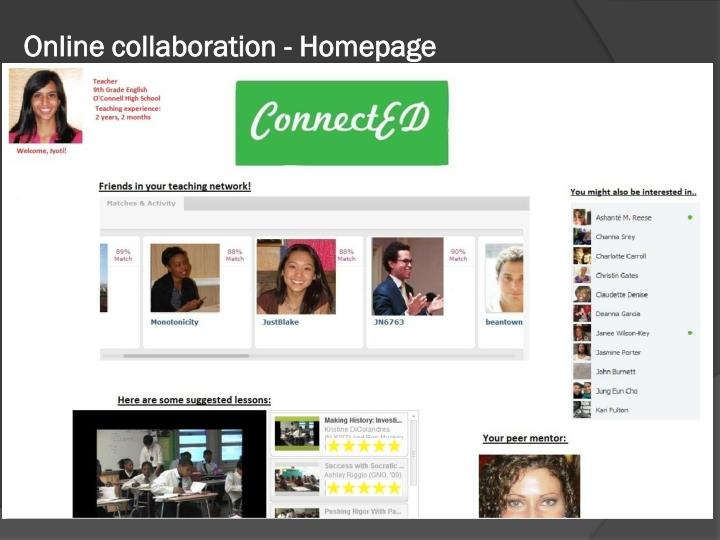 Online collaboration - Homepage
