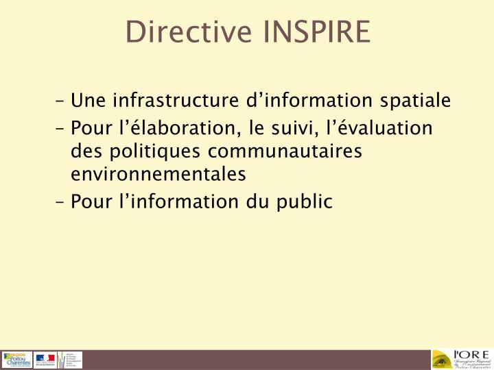 Une infrastructure d'information spatiale