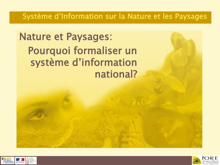Nature et Paysages: