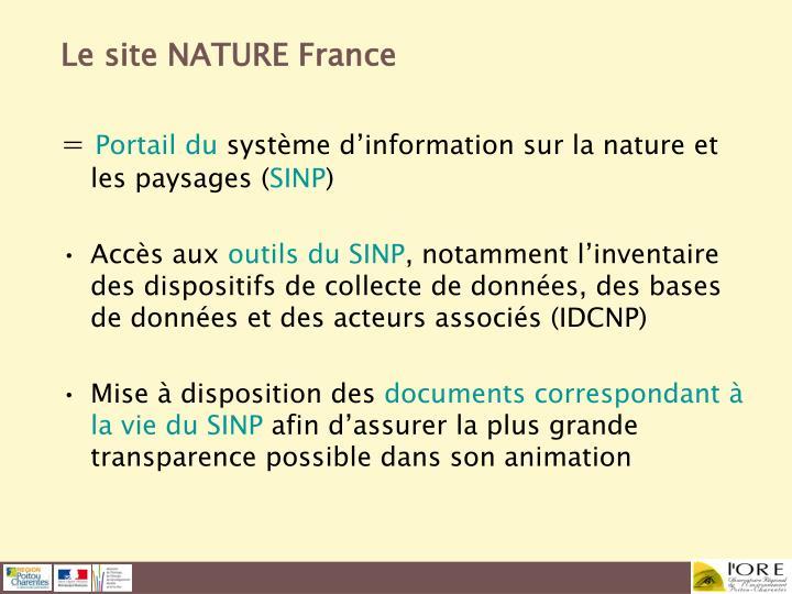 Le site NATURE France