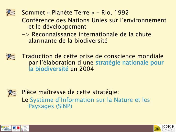 Sommet « Planète Terre » - Rio, 1992