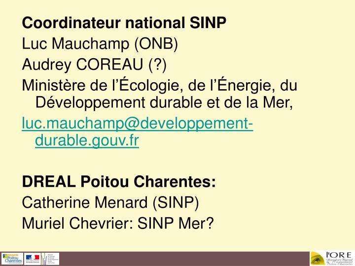 Coordinateur national SINP