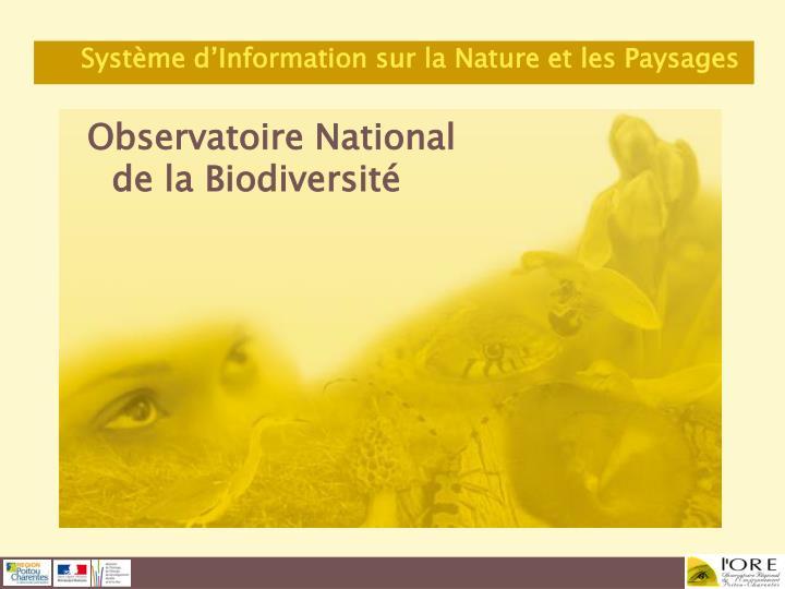 Observatoire National de la Biodiversité