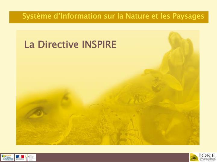 La Directive INSPIRE