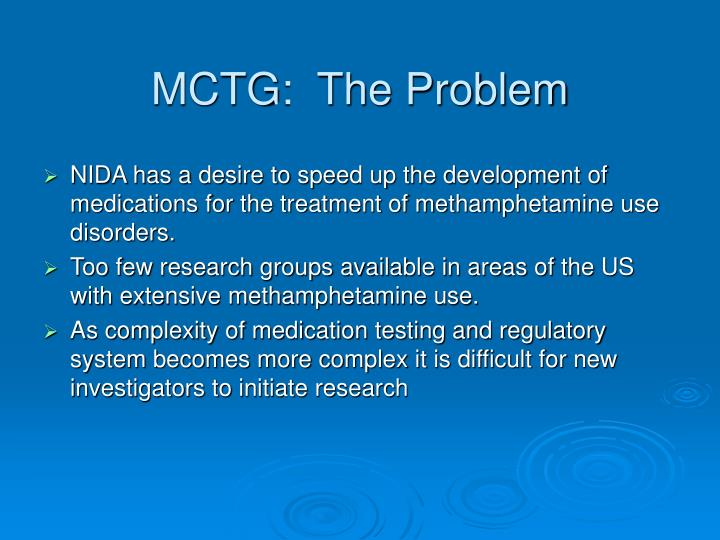 MCTG:  The Problem