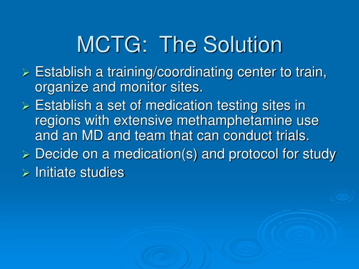 MCTG:  The Solution