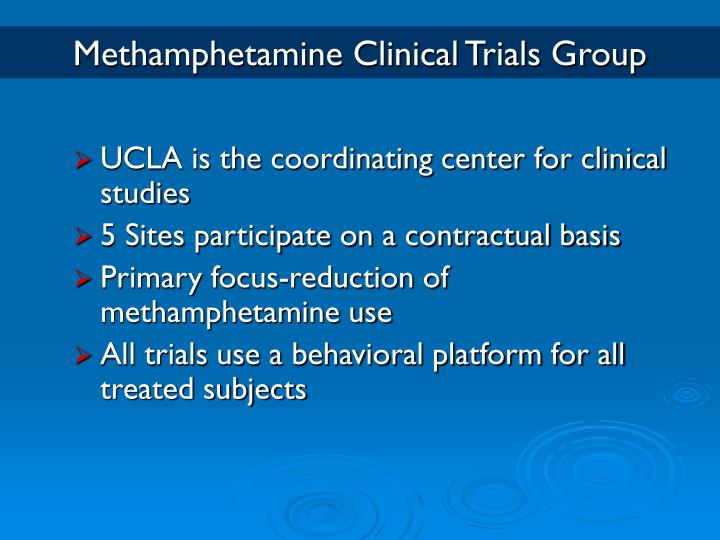Methamphetamine Clinical Trials Group