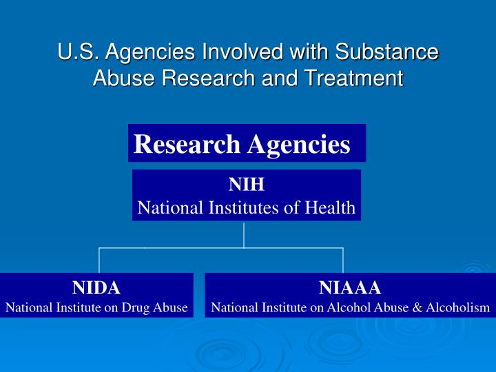 U s agencies involved with substance abuse research and treatment