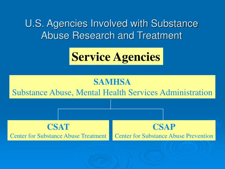 U.S. Agencies Involved with Substance Abuse Research and Treatment