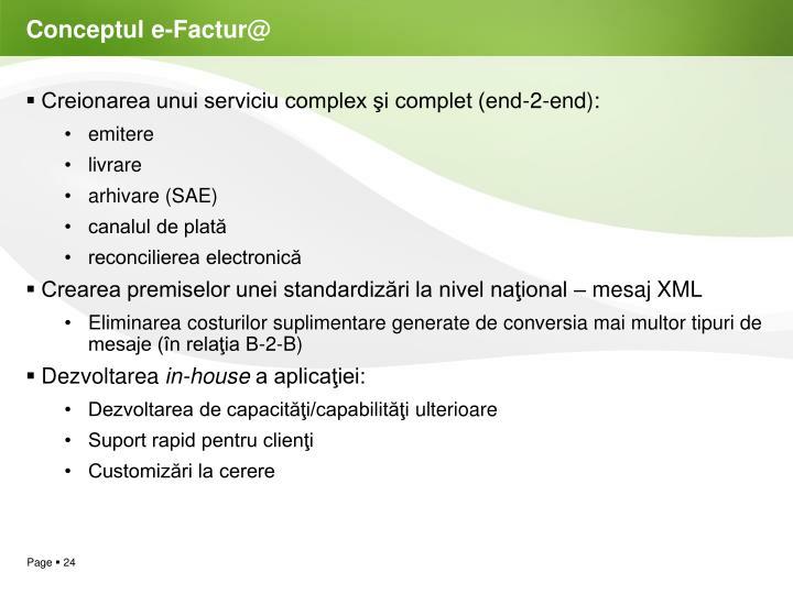Conceptul e-Factur