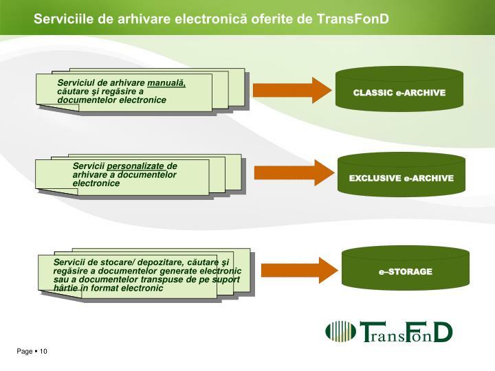 Serviciile de arhivare electronică oferite de TransFonD