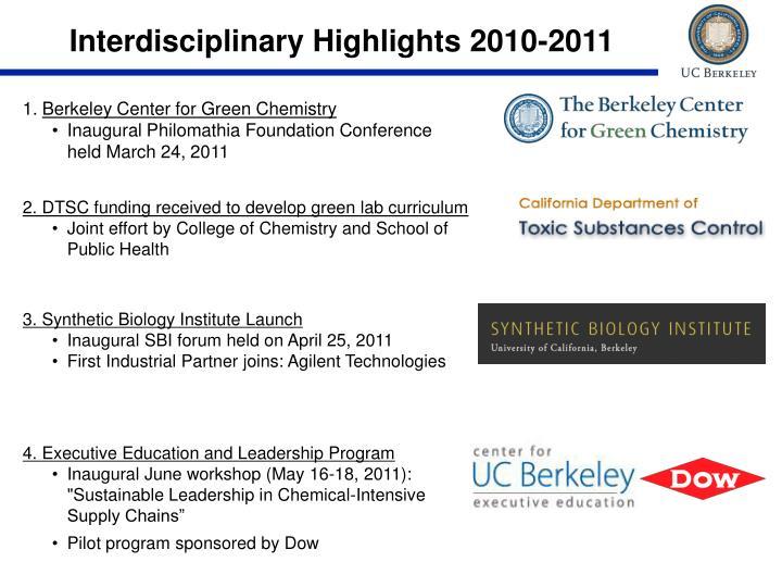 Interdisciplinary Highlights 2010-2011