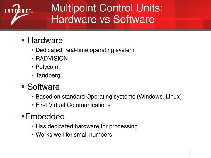 Multipoint Control Units: Hardware vs Software