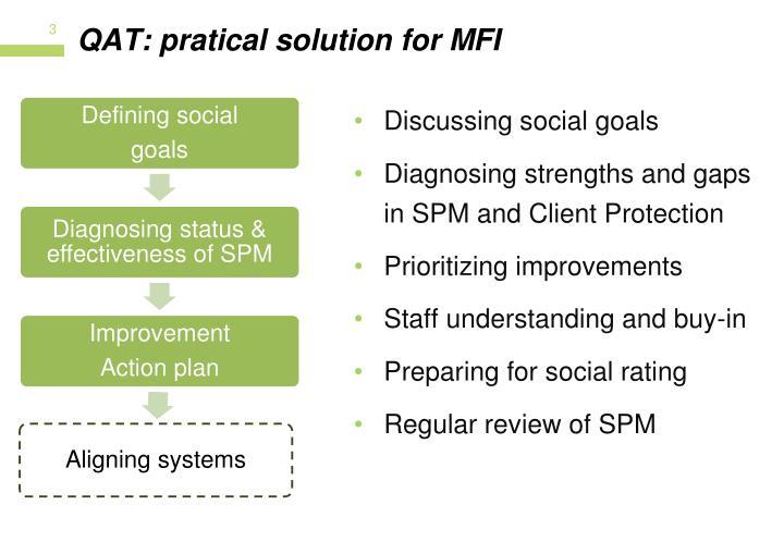 QAT: pratical solution for MFI