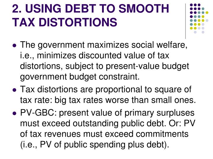 2. USING DEBT TO SMOOTH TAX DISTORTIONS