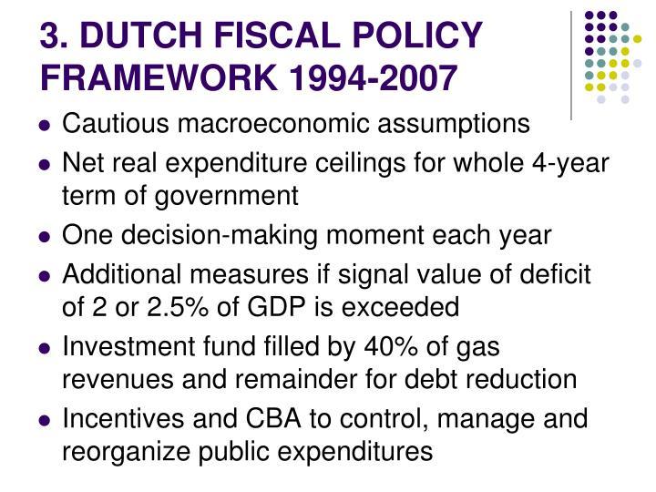 3. DUTCH FISCAL POLICY FRAMEWORK 1994-2007