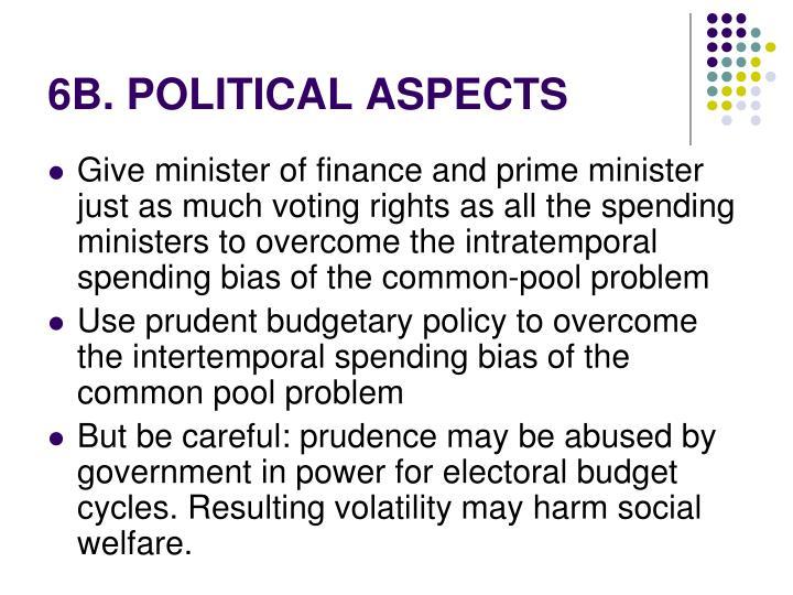 6B. POLITICAL ASPECTS