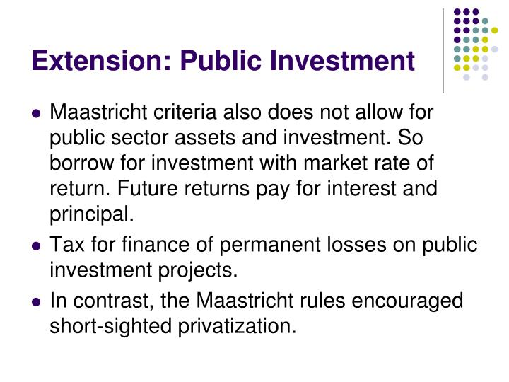 Extension: Public Investment