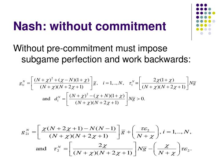 Nash: without commitment
