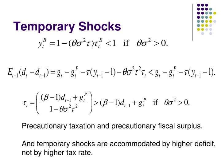Temporary Shocks