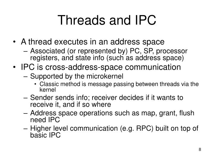 Threads and IPC