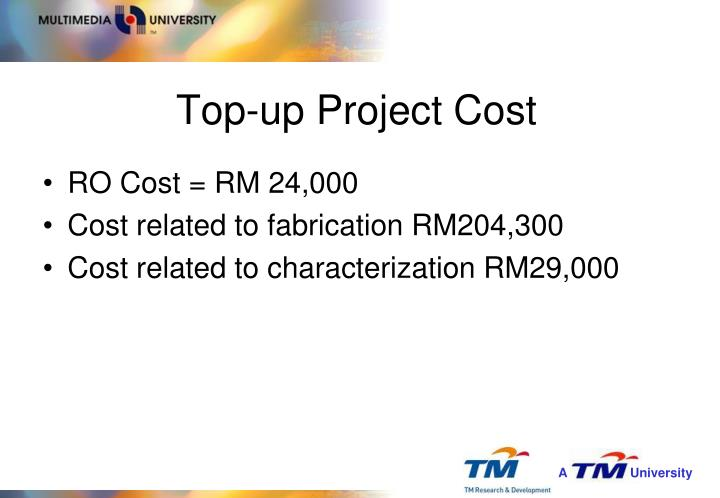 Top-up Project Cost