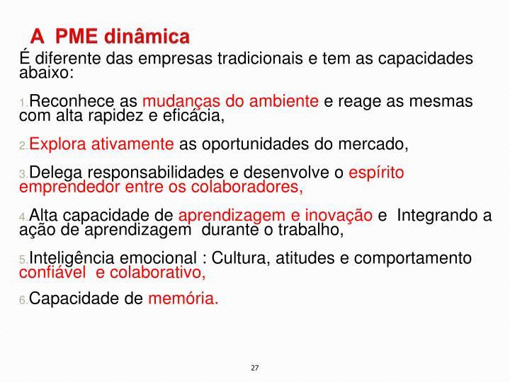 A  PME dinâmica