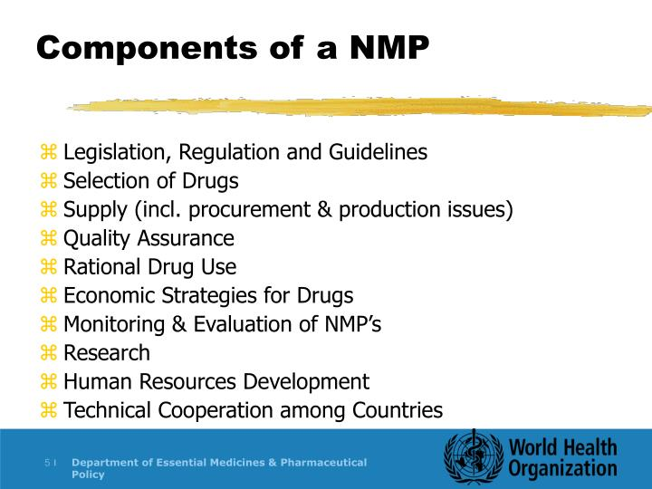 Components of a NMP