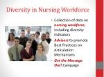 diversity in nursing workforce