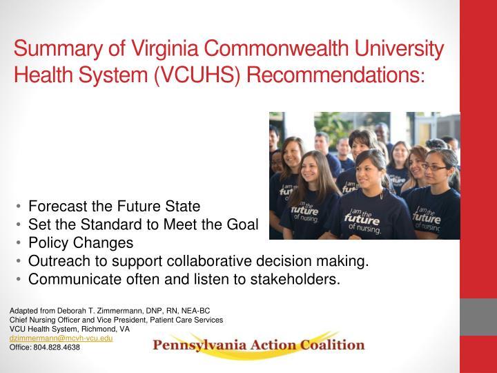 Summary of Virginia Commonwealth University