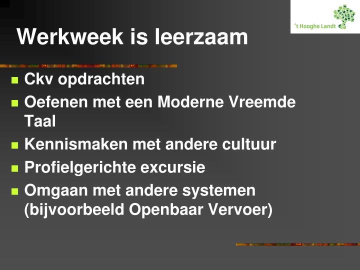 Werkweek is leerzaam