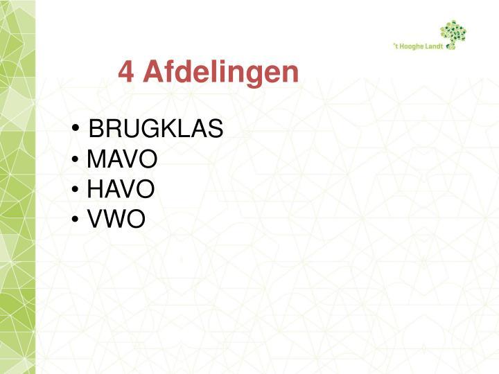 4 Afdelingen