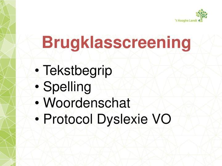 Brugklasscreening