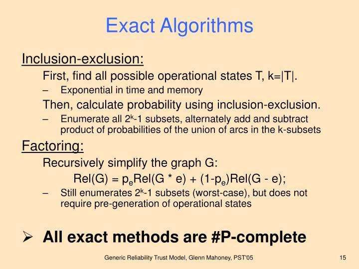 Exact Algorithms