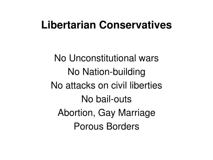 Libertarian Conservatives