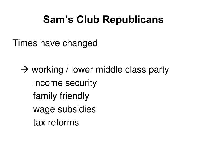 Sam's Club Republicans
