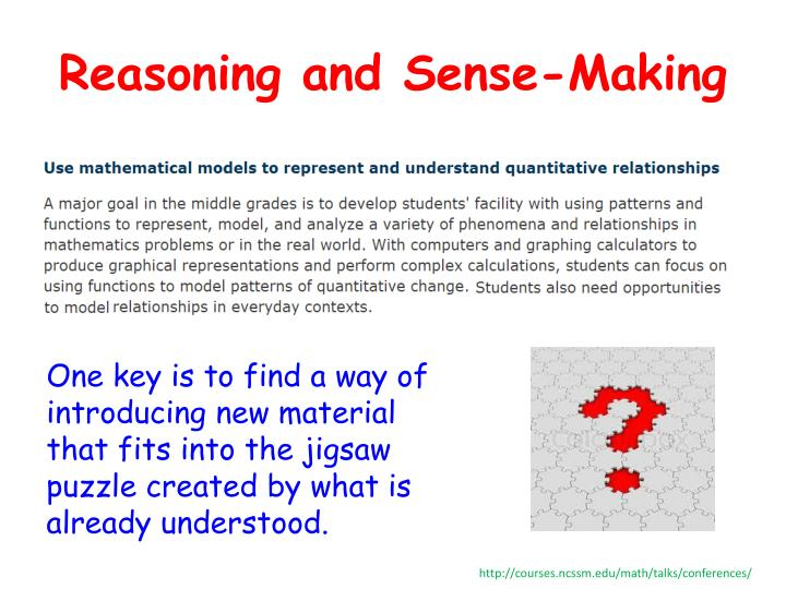 Reasoning and Sense-Making