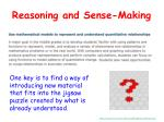 reasoning and sense making