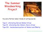 the summer woodworking project