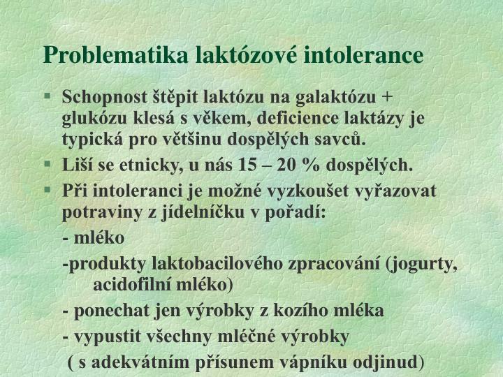 Problematika laktózové intolerance
