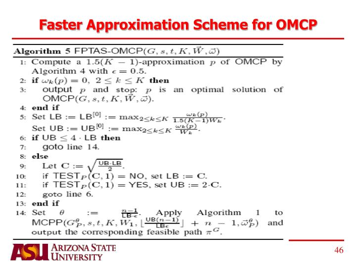 Faster Approximation Scheme for OMCP