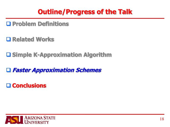 Outline/Progress of the Talk
