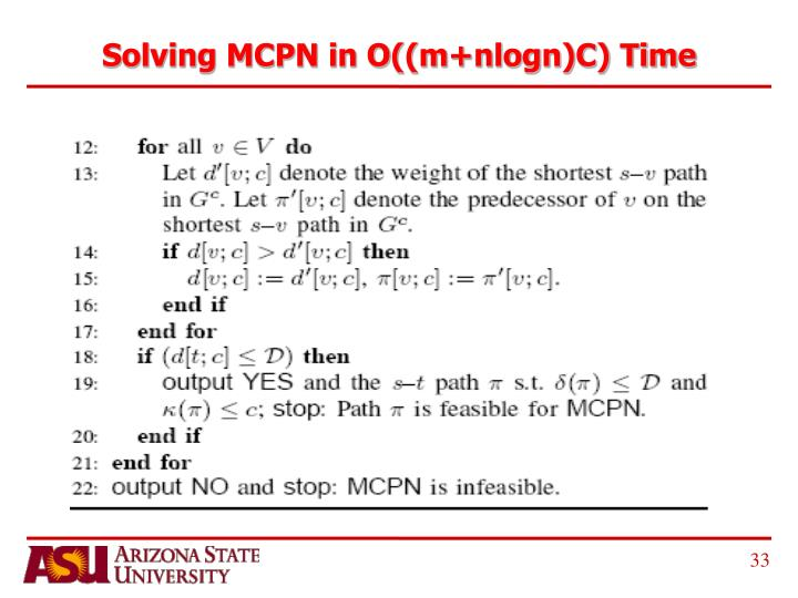Solving MCPN in O((m+nlogn)C) Time