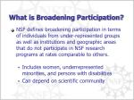 what is broadening participation
